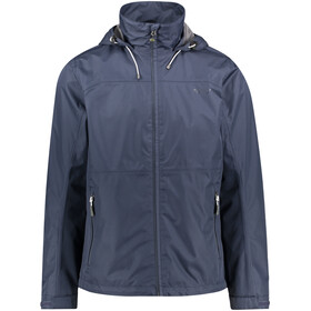 Meru Chios Veste imperméable 2 couches Homme, blue nights uni